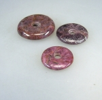 Rubin - Donut im 2er Set ca. 30 - 34 mm