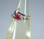 Rubin Fingerring Modell 1 in 925 Silber - ca. 18,5 mm