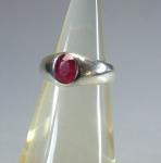 Rubin Fingerring Modell 4 in 925 Silber - ca. 18,5 mm