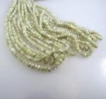 grüner Turmalin Kiristallstrang + Silber ca. 4-5 mm / 42 cm