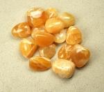Orangencalcit Trommelsteine aus Mexiko VE = 500 gr.