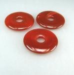 3er Set 40 mm roter Carneol Donut Anhänger