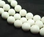 weiße Koralle Kugelstrang ca. 16 mm / 40 cm