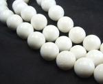weiße Koralle Kugelstrang ca. 18 mm / 40 cm