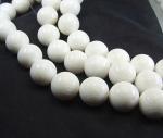 weiße Koralle Kugelstrang ca. 20 mm / 40 cm