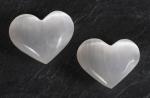 Herzhandschmeichler aus Selenit groß ca. 50 - 60 mm