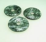 Onyx Anhänger Tropfen facettiert an 925 Silber ca. 60 x 30 mm
