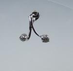 Diamant Anhänger fac. in 925 Silber rhodiniert ca. 18 x 18 mm