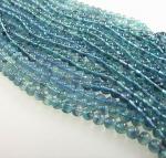 Bergkristall behandelt blau Kugelkette ca. 8 mm / ca. 45 cm
