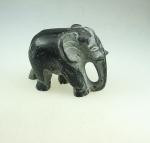Elefant aus Black Stone ca.  160 x 120 mm ca. 1860 gr - Einzelstück
