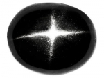 10 er Set Sterndiopsid oval Cabochon Schwarz - ca. 4 x 6 mm