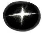 Sterndiopsid oval Cabochon Schwarz - ca. 6,5 - 8,8 mm