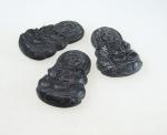 Guan Shi Yin Anhänger aus Black Stone ca. 45x30 mm