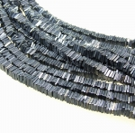 Spinell mit Silber bedampft Scheibenstrang ca. 5 mm ca. 40 cm