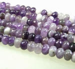 Amethyst Buttonstrang facettiert ca. 12 mm / ca. 40 cm