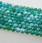 Achat grün (beh.) Kugelstrang gecrasht fac. ca. 8 mm ca. 40 cm