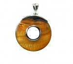 Muschel Anhänger goldfarben an Öse ca. 65 x 50 mm