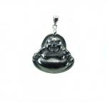 3er Set Buddha Anhänger Hematit magnetisch + Öse 33x24 mm