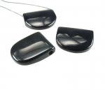 Obsidian Anhänger ca. 40 x 30 mm / ca. 4 mm Bohrung