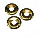 3er Set 40 mm goldfarbener Hematit Donut Anhänger ( bedampft ) - 14 mm
