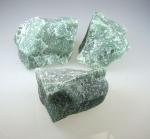 Grünquarz Rohsteine faustgroß ca. 150 - 250 gr. / st.