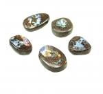 5er Set Opal Anhänger geb. ca. 15-30 mm Bohrung 1,5-2,5 mm