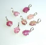 Pink Saphir Anhänger facettiert in 925 Silber gefasst 20-25 mm