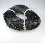 90 Meter Lederband (Rindsleder) schwarz am Stück ca. 2,0 mm