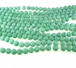 grüner Aventurin Kugelstrang mattiert ca. 8 mm / ca. 40 cm