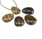 5er Set Stromatolith - gebohrter Trommelstein Anhänger