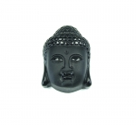 Buddha Kopf Anhänger Obsidian ca. 35x25 mm 1,0mm Bohrung