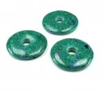Azurit-Malachit Donut Anhänger konstruiert. ca. 40 mm