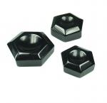 3er Set Obsidian Kugelhalter ca. 30 - 50 mm