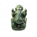 Ganesha Gravur aus Labradorit AA ca. 90 x 60 x 60 mm 436 gr.