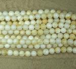 Weißmuschel Kugelstrang ca. 8 mm / ca. 40 cm