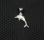 Operculum Delphin Anhänger in 925 Silber ca. 26x15 mm