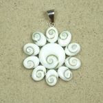 Operculum Anhänger Sonne in 925 Silber ca. 50 x 40 mm