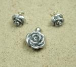 Rosen Set aus Resin an 925 Silber ca. 20 x 14 mm