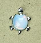 3er Set Opalglas (syn.) Schildkröte Anhänger ca. 43 x 35 mm