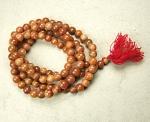 Mala aus orangenem Jaspis 108 Perlen ca. 12-14 mm ca. 136 cm