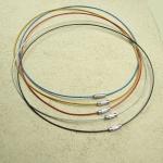 10er Set Halsreifen Edelstahl ca. 45 cm mit Schraubverschluß
