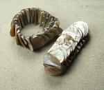 5er set Perlmutt - Armband bronzefarben ca. 30 mm / ca. 18-19 cm