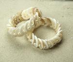Perlmutt Armband rund weiß ca. 20 mm / 18 - 19 cm