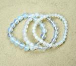 Opalglas (syn.)  Kugelarmband ca. 10 mm / ca. 19 cm