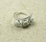 Operculum - Fingerring in 925 Silber ca. 13 mm breit