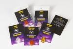 NEU: 5er Set Glückstrommler gebohrt + Wachsband mit Sternzeichenkarte