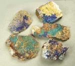 Azurit Malachit ca. 150 bis 300 gr. ca. 60 bis 120 mm aus Marokko