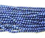 Lapislazuli Kugelstrang facettiert ( farblich behandelt ) ca. 8 mm / ca. 40 cm