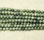 Afrikanischer grüner Türkis Kugelstrang ca. 8 mm / ca. 40 cm