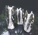 Sonnenstein Kugelkette facettiert ca. 8-9 mm / ca. 45 cm mit 925 Silberkarabiner
